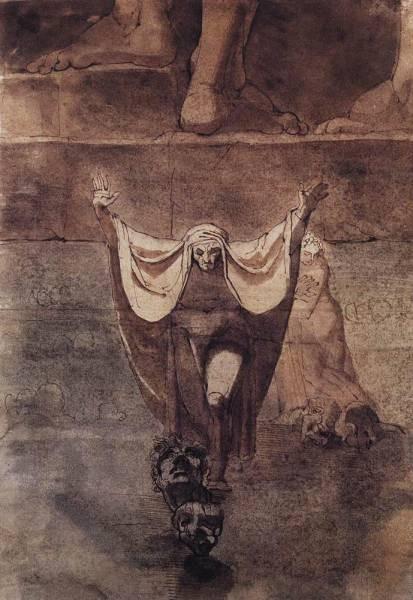 FUSELI John Henry Dante And Virgil On The Ice Of Kocythos
